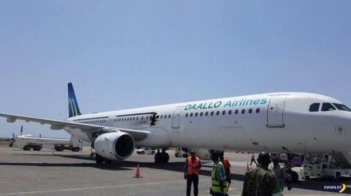 Взрыв на борту самолёта Daallo Airlines