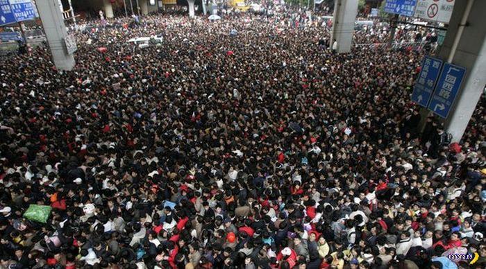 В Китае транспортный коллапс