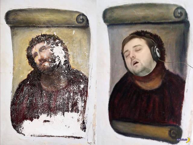 Чувак имел неосторожность уснуть на работе...