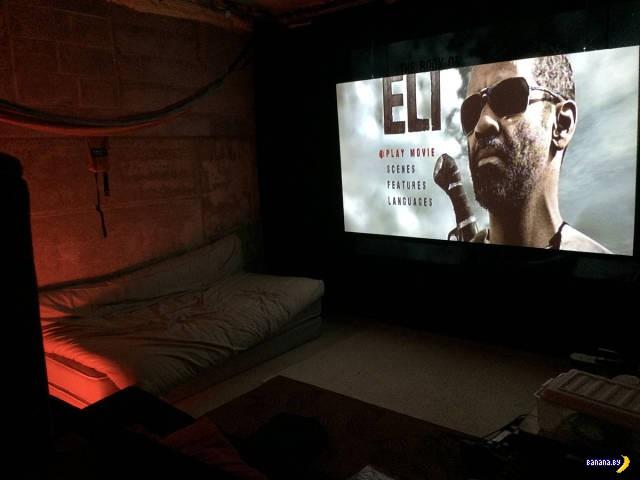 Кинотеатр в подвале своими руками