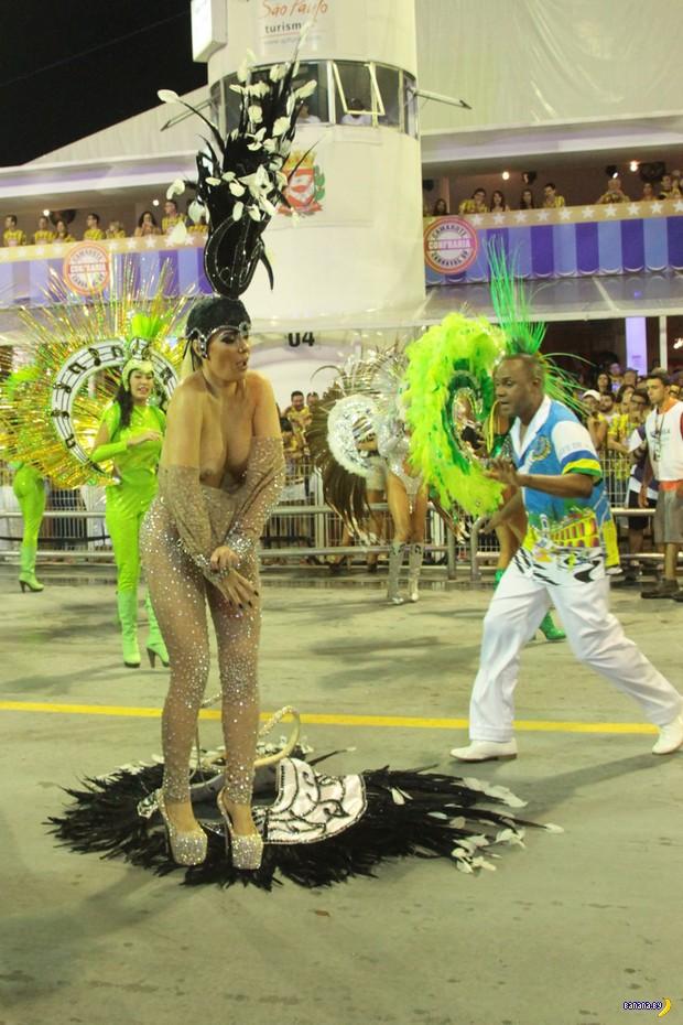 Акция протеста на карнавале в Бразилии