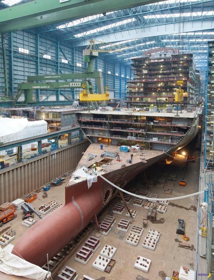 Как строят круизный лайнер на судоверфи