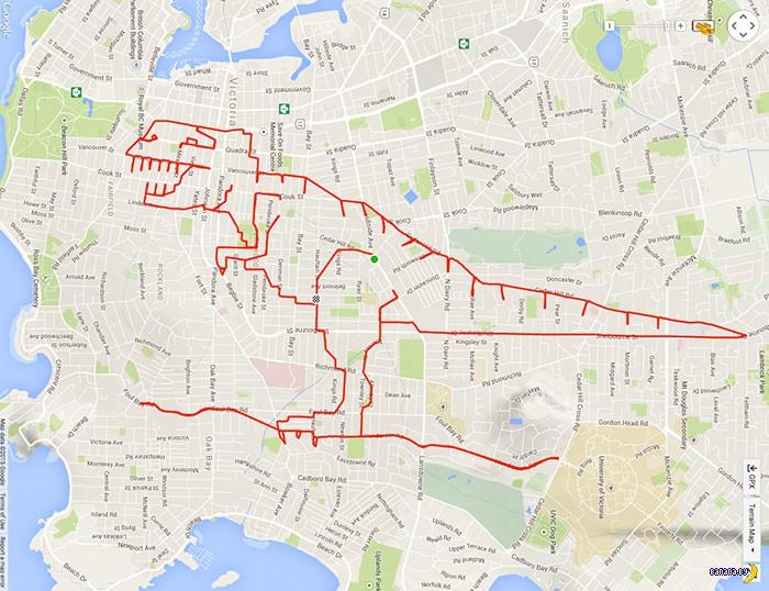 Рисунки велосипедом по карте