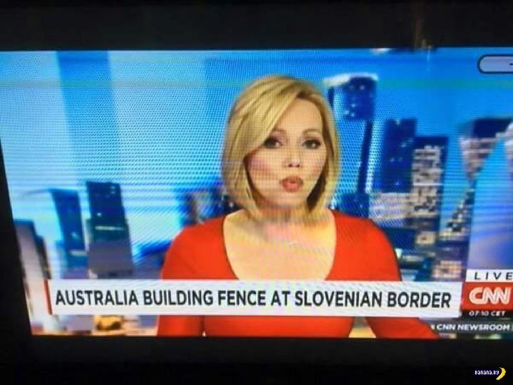 Красивая блондинка в прямом эфире новостей CNN
