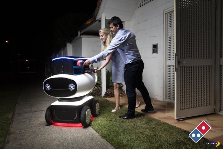 Автономный робот для доставки пиццы Domino's