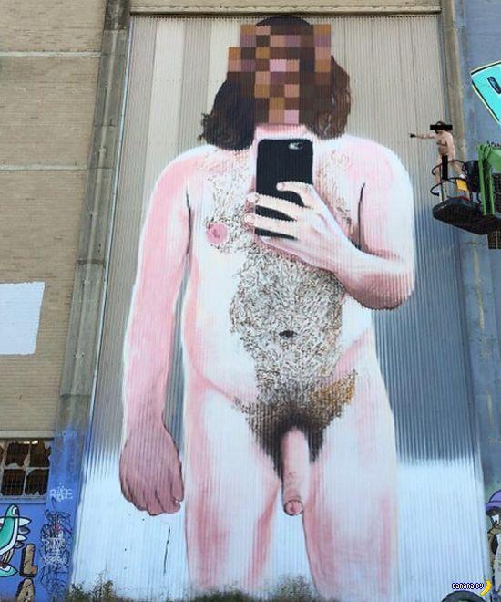 Селфи-граффити в Австралии не стали замазывать