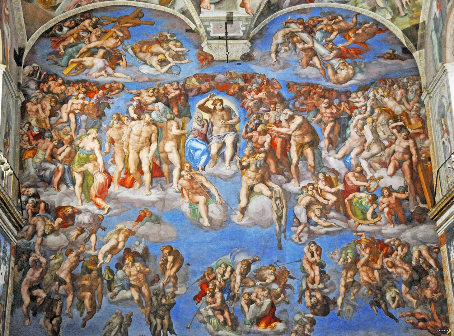 a painting analysis of the last judgement by michelangelo