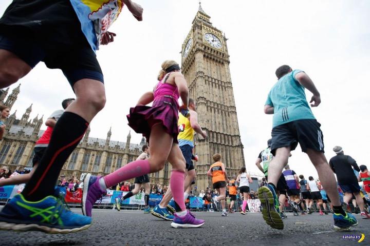 Страшное позорище во время Лондонского марафона 2016