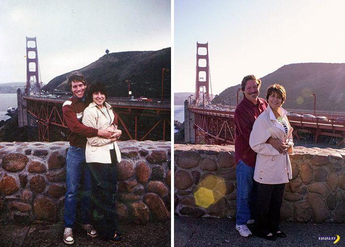 Люди воссоздают свои старые снимки