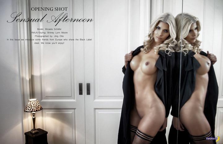 Микаэла Шефер разделась для Black Label Magazine
