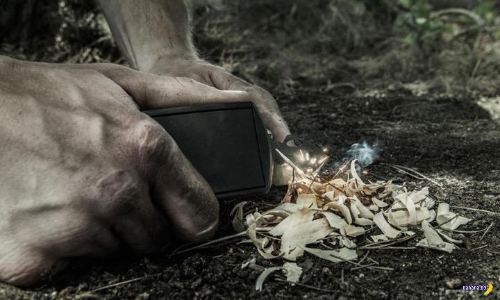 Ремень с пряжкой-мультитулом для выживания