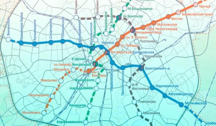 Утверждены названия новых станций метро в Минске