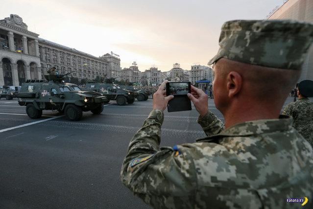 Украинские военные на репетиции парада
