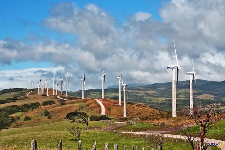 Коста-Рика – 113 дней на чистой энергии