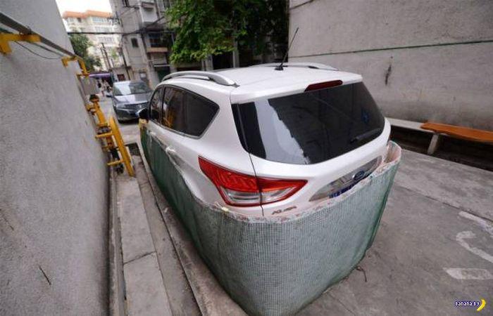 Защита машинок по-китайски