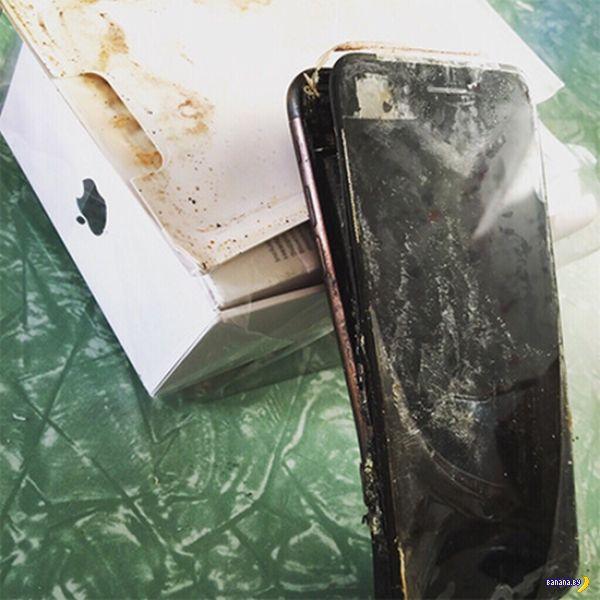 iPhone 7 подгорел еще до начала использования!