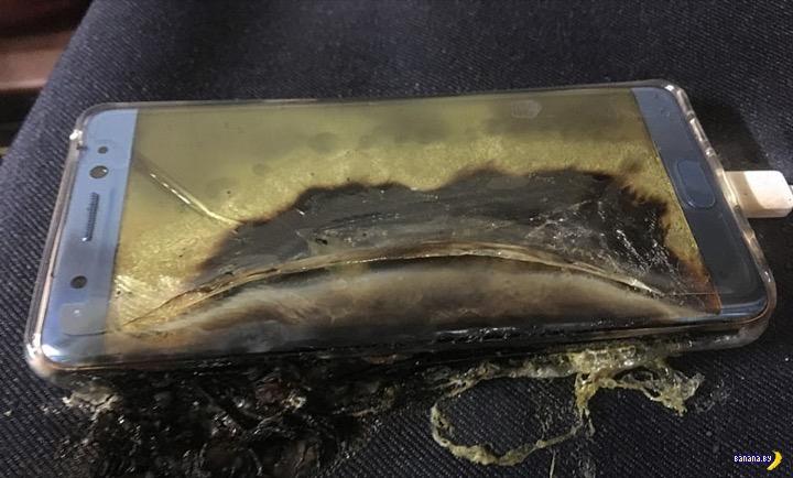 Смартфоны горят, Samsung тонет