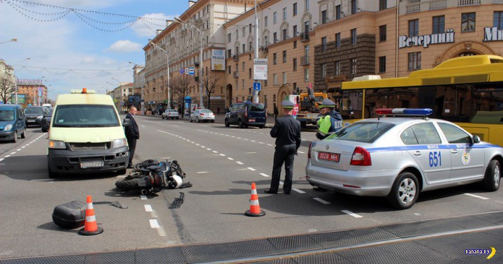 Осудили мотоциклиста, который сбил инспектора ГАИ весной