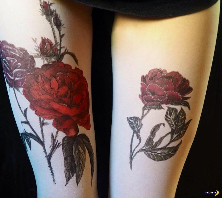 Придумали колготки с татуировками