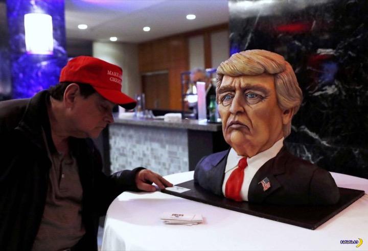 Трамп-торт для Трампа привезли в Трамп-тауэр
