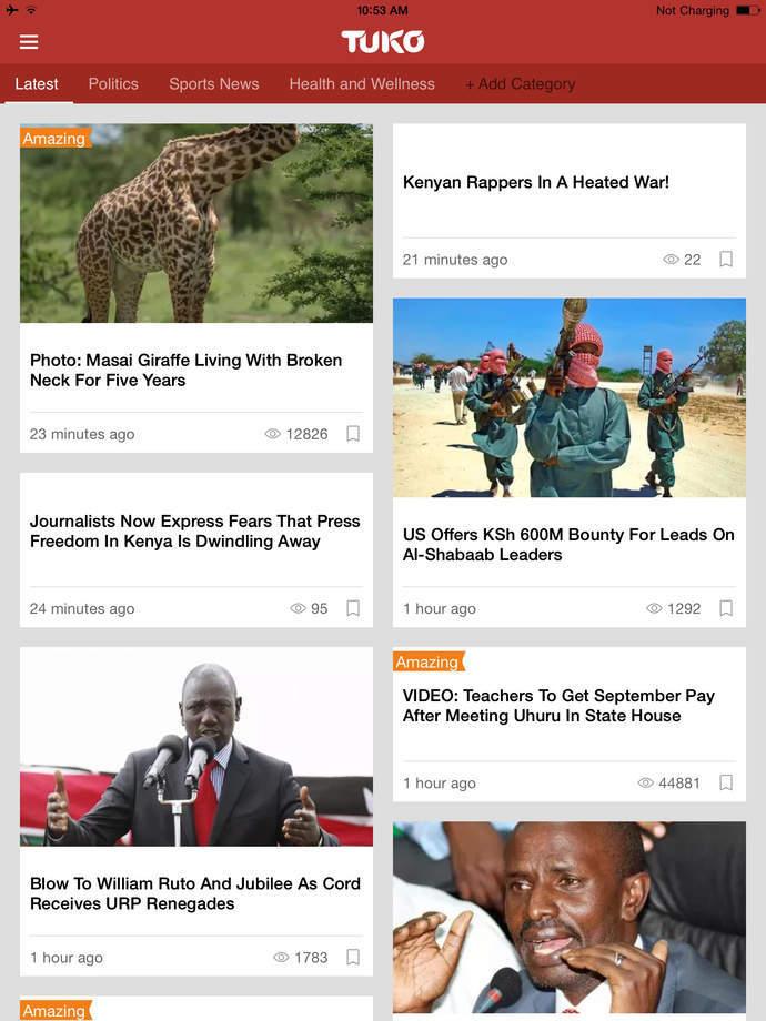 Новостной портал Tuko становится одним из лидеров интернет-СМИ Кении