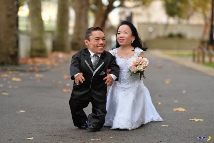 Мировой рекорд - самая низкорослая семейная пара
