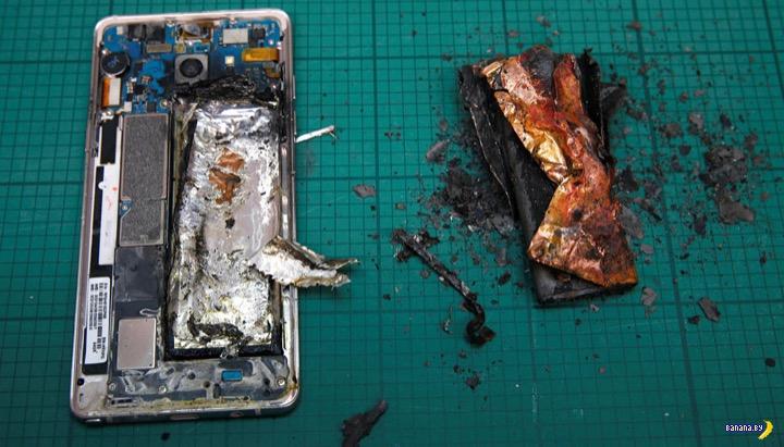 Выяснили причину взрывов и возгораний Samsung Galaxy Note 7