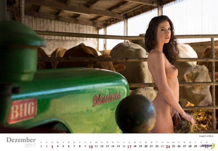 Баварские трактористки –календарь!