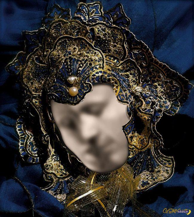 Венецианская маска с иллюзией