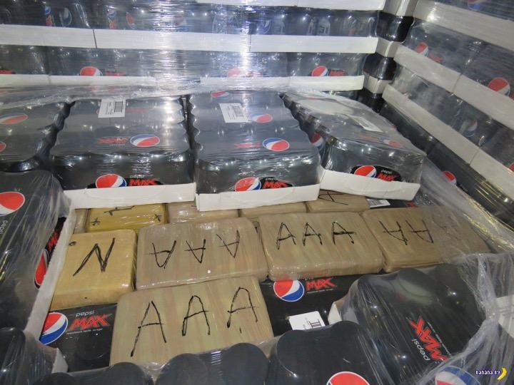 Ирония судьбы: в грузе Pepsi нашли Коку