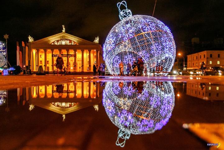 Общественный транспорт в новогоднюю ночь в Минске