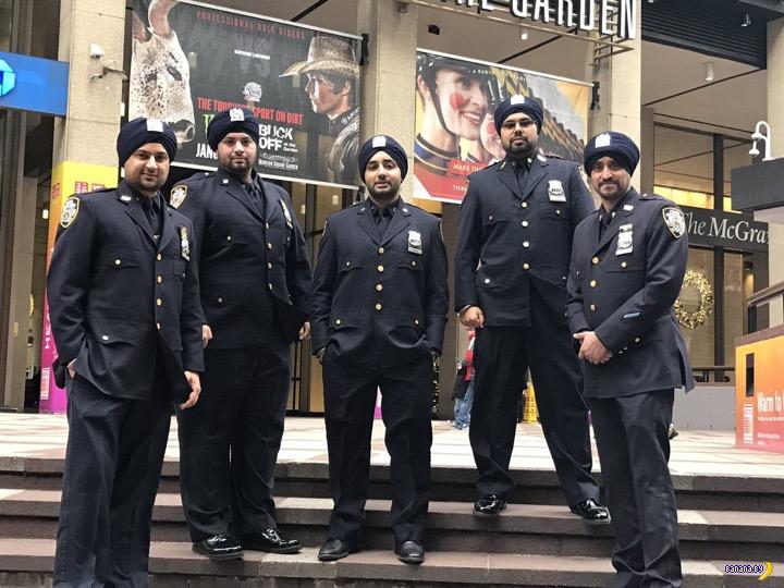 Новый вид головного убора в полиции NY