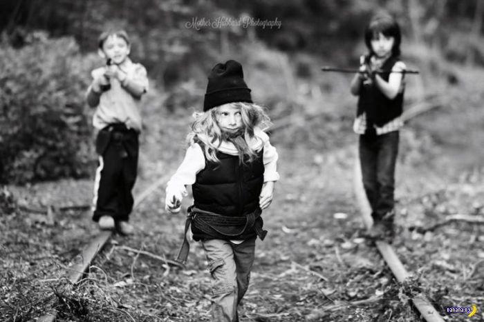 Дети и противоречивый фотосет