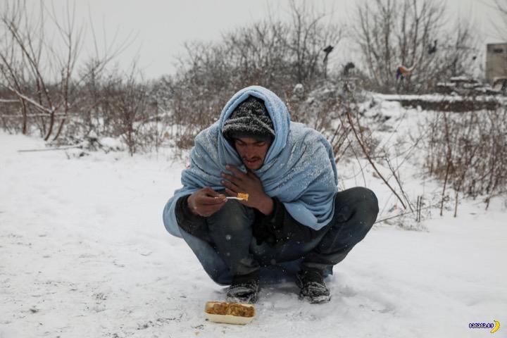 Беженцы замерзают