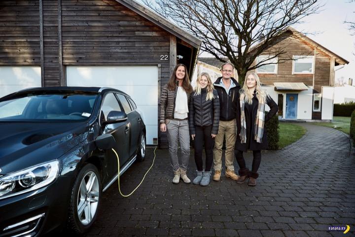 Шведская семья добровольцев