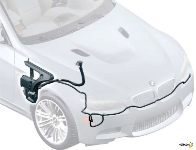 Как украсть бачок системы омывателя фар в BMW?