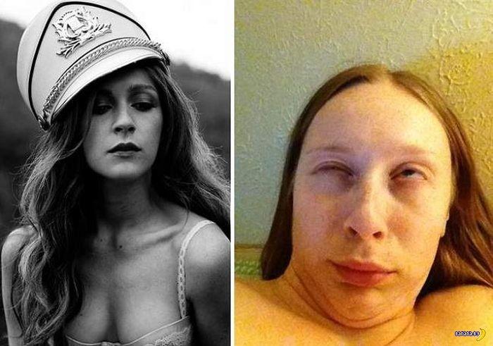 Симпатичные девушки кривляются