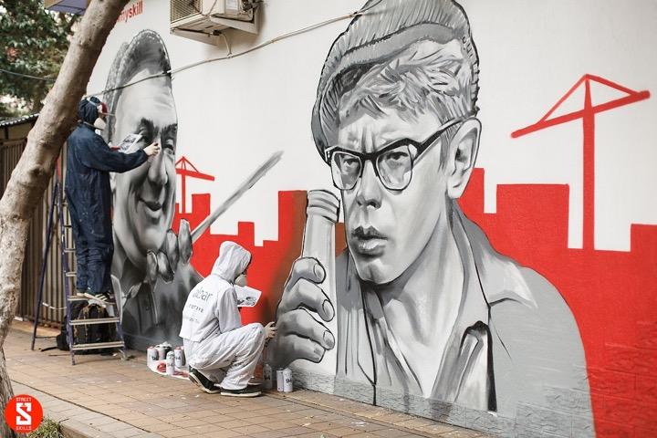Белорусское граффити про тунеядцев в Сочи