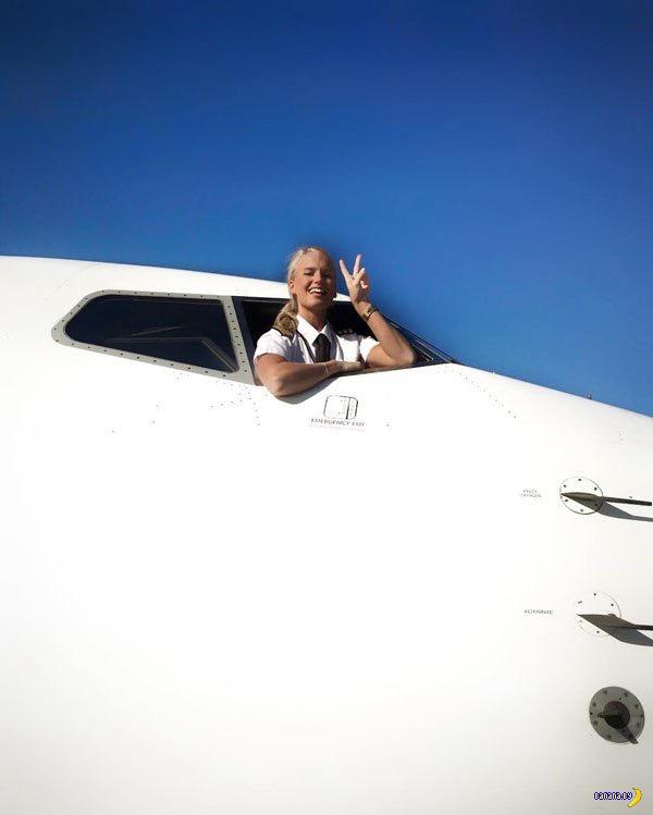 Мария – еще одна девушка-пилот из Швеции