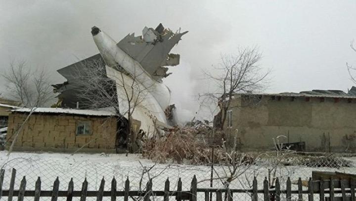 Грузовой Boeing 747 упал под Бишкеком