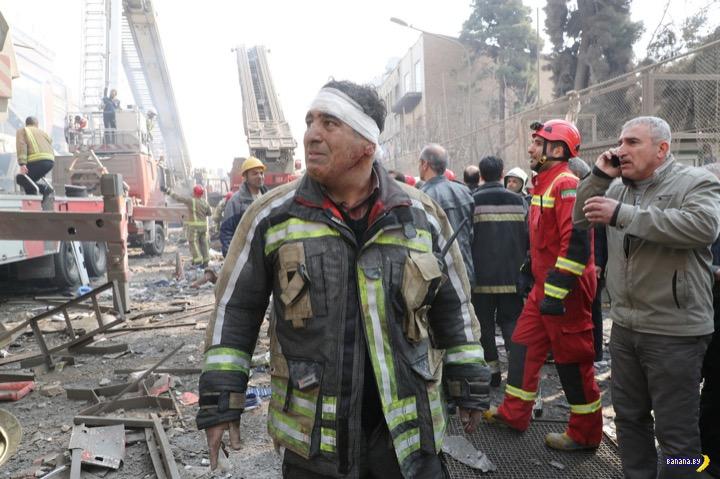 Страшный пожар в Тегеране