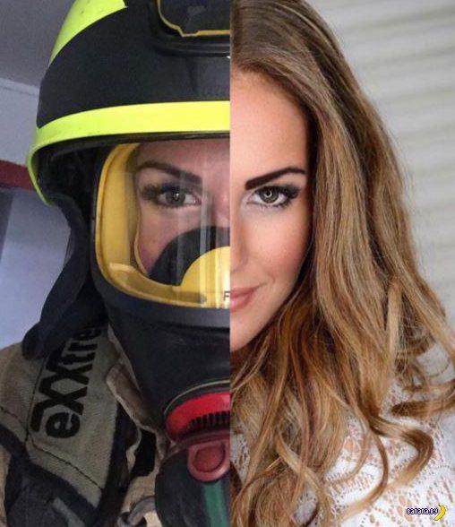 Гунн Натрен –самая красивая женщина-пожарный