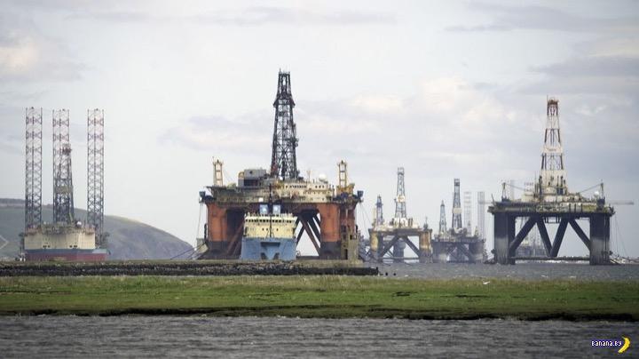 Кладбище нефтяных платформ