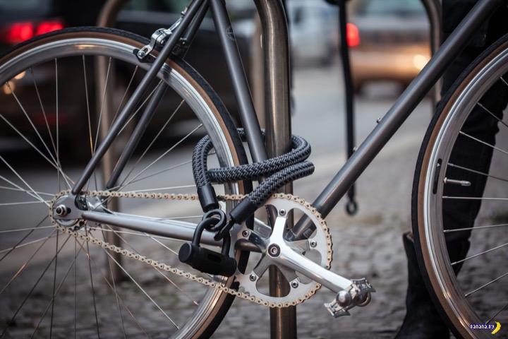 Текстильный замок для велосипеда