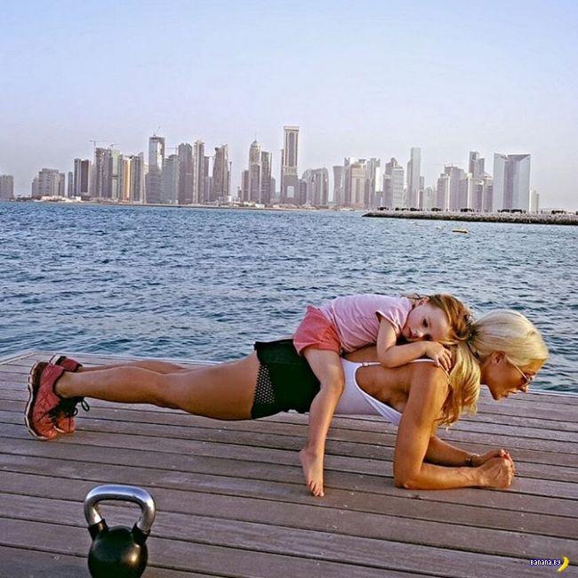 Фитнес-мамочка