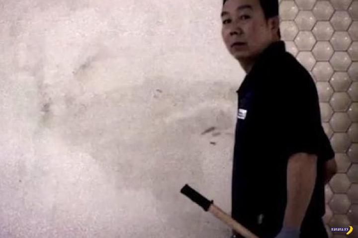 Трудолюбивый уборщик мистер Лян Чжао Чжан