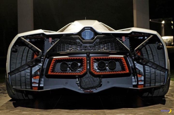Lamborghini Egoista вблизи