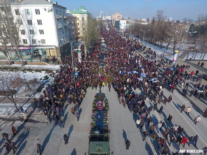 Похороны Гиви в Донецке