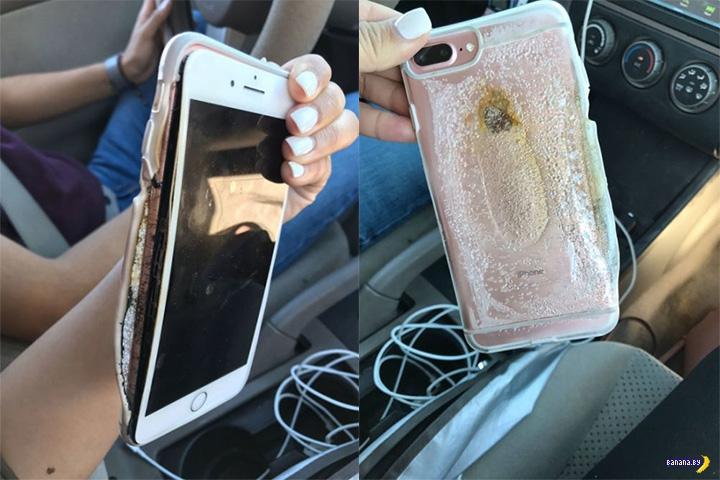 Рванул первый iPhone 7 Plus