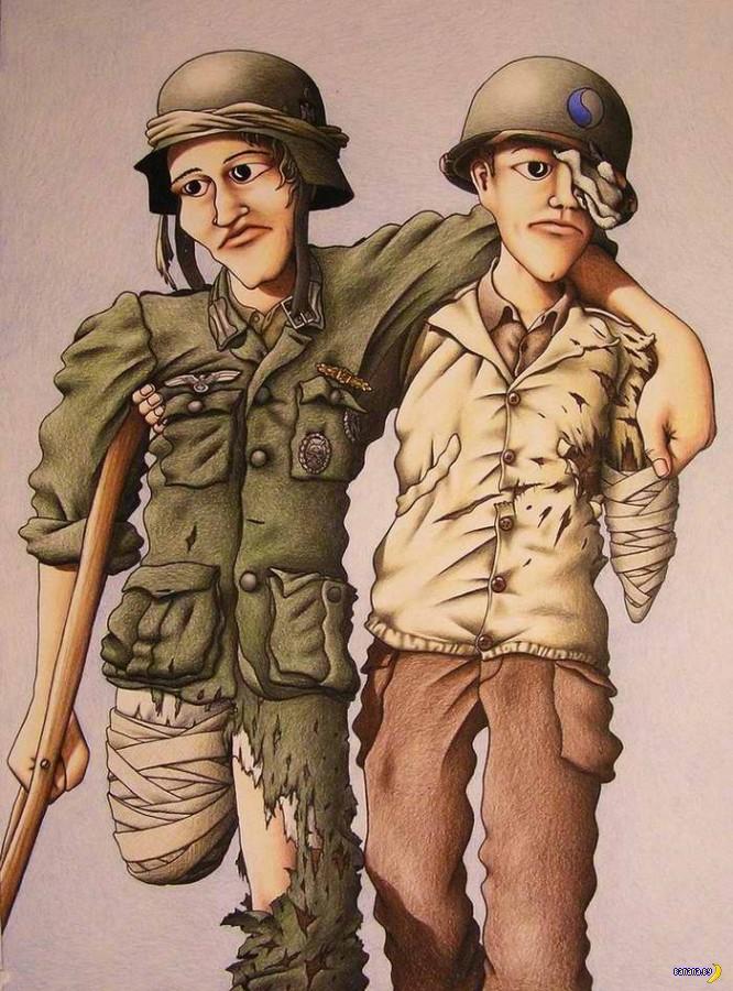 """""""Войнушка"""" на рисунках Майкла Аккермана"""